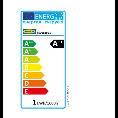 Energy Label Of: 40436745